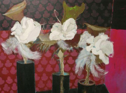 Kytice II, 170x200 cm, akryl na  plátně, 2009 Růžička