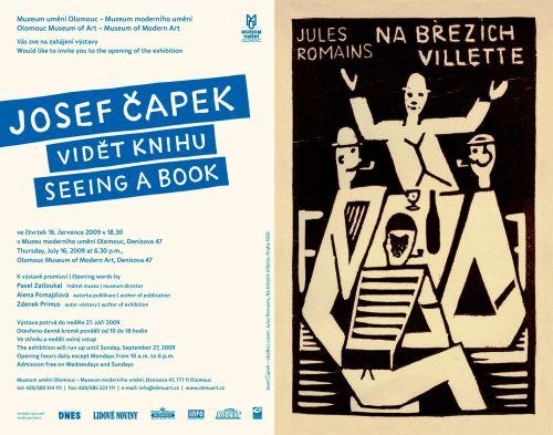 Josef_Capek_Videt_knihu_pozvanka