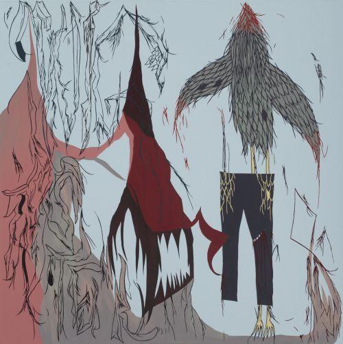 Wig Master, 2007, akryl, plátno, 100 x 100 cm