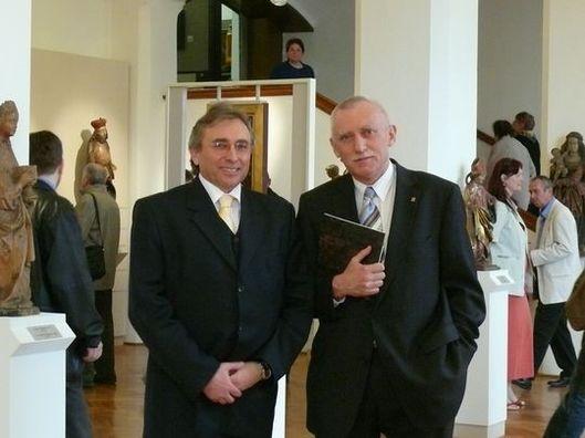 Lubomír Bednář s bývalým hejtmanem Janem Zahradníkem